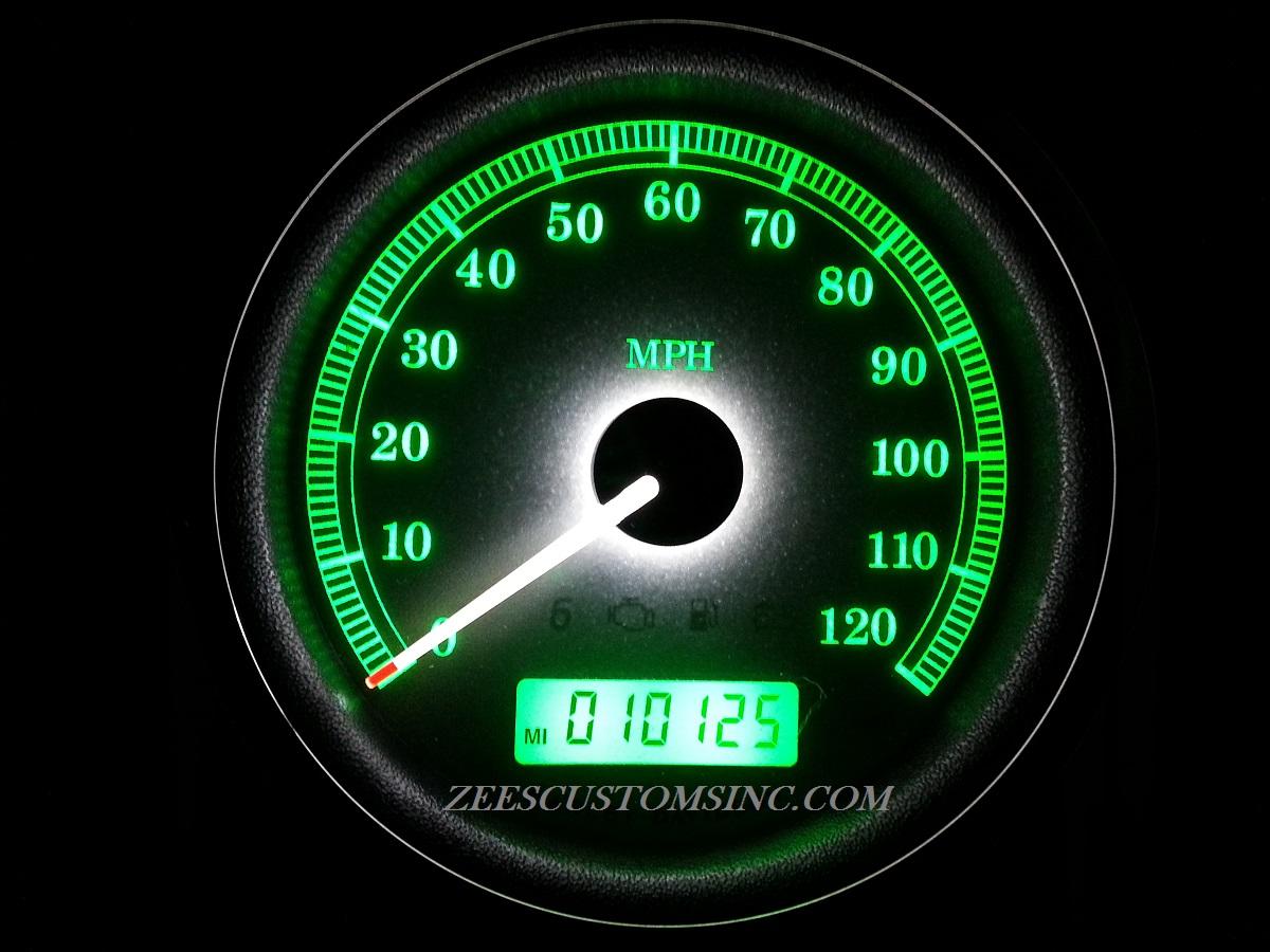 2013 Streetglide Green Backlighting, White Needle, Green Odometer