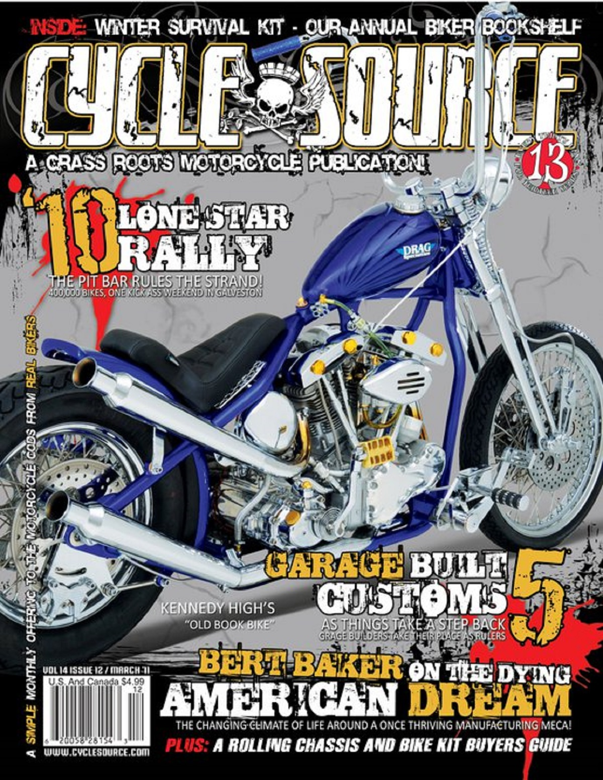 2011 Drag Specialties Old Book Cover Bike