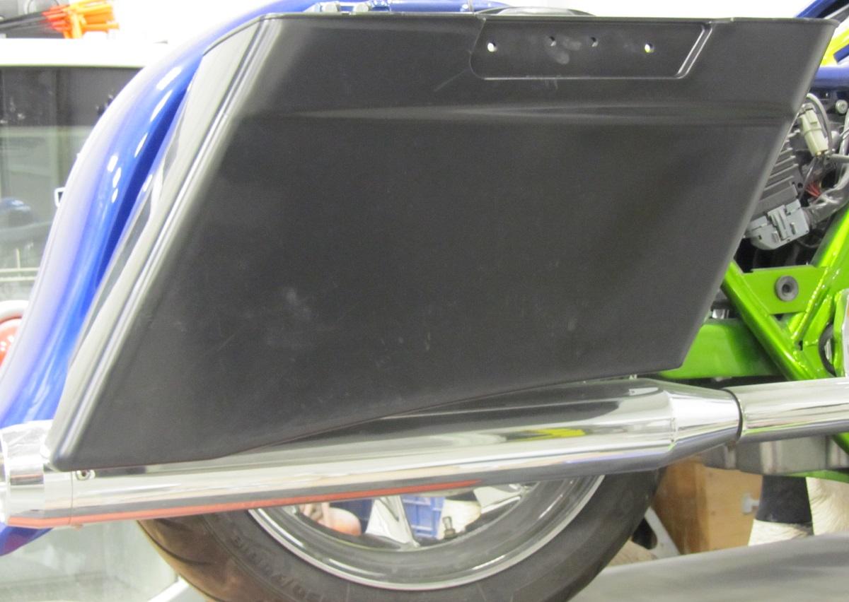 """""""The Slant Bag"""" 3.5"""" ABS Extended Saddlebag 399.00"""